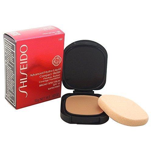 I60 Natural - Shiseido Foundation Advanced Hydro-Liquid Compact Refill Number I60, Natural Deep Ivory 12 ml by Shiseido