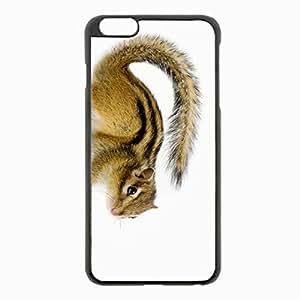 iPhone 6 Plus Black Hardshell Case 5.5inch - chipmunk background animal Desin Images Protector Back Cover
