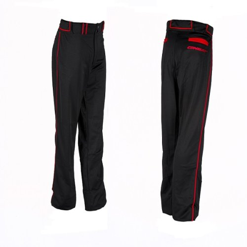 1pr Combat Adult XXXLブラック/レッドLoose Fit Piped Pants野球&ソフトボール B01GVVCM5W