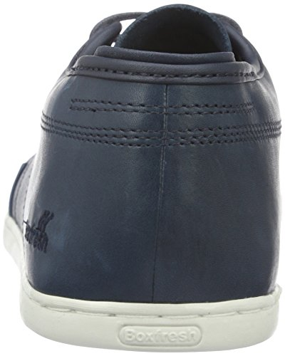 Box Sparko Leather Fresh Mens Trainers Navy rUqt6wr0