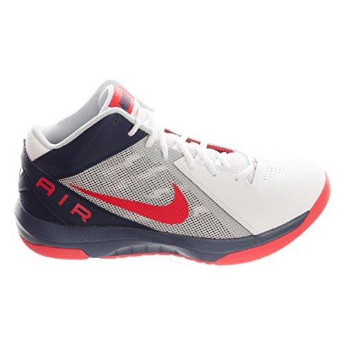 Nike Herren the Air Overplay IX Sportschuhe-Basketball, Blanco (White / University Red-Obsidian), 44 EU