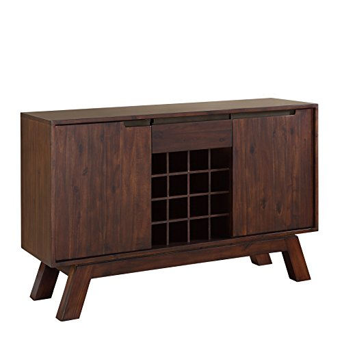 Modus Furniture 7Z4873 Portland Solid Wood Sideboard, Walnut
