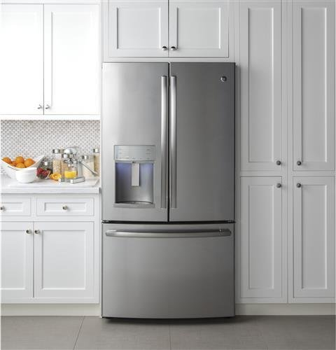 PYE22KSKSS 36 Energy Qualified French-door Refrigerator with 22.2 Capacity Full-width in