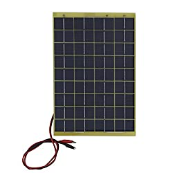 ECO-WORTHY 10 Watts 12 Volts Epoxy Solar Panel Module 12V Battery Charger Camping