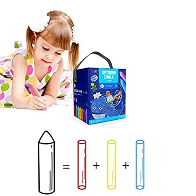 3T6B Chalk Set 20 Piece Outdoor Jumbo Washable Sidewalk Chalk (8953)Let's the Worldwide Color Splash --- No poison or dust: Office Products