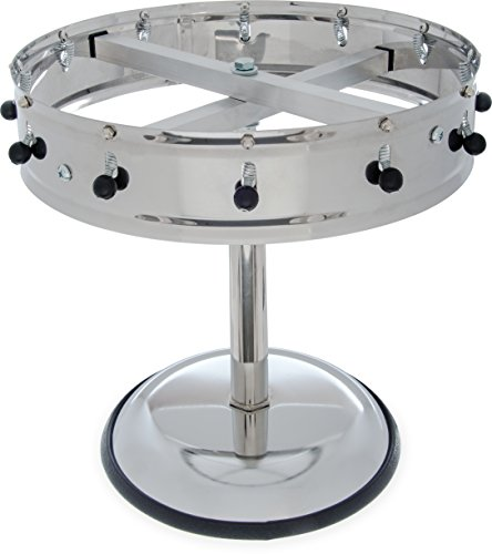 Carlisle 3812MP Stainless Steel Portable Order Wheel with 12 Clips, 14'' Diameter x 5.75'' Height by Carlisle