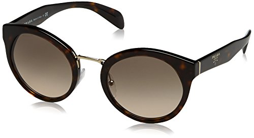 Prada Women's 0PR 05TS Havana/Brown Gradient Sunglasses, - Prada Warranty Sunglass