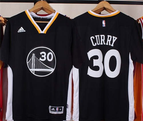 New Stephen Curry Golden State Warriors Short Sleeve Jersey Black (XX-Large)