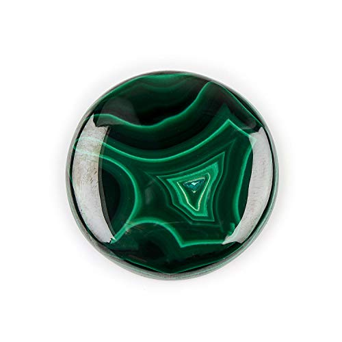94+ cts Malachite Crystal Stone, Malachite Cabochon, Malachite for Pendant Necklace, Gift for her, Birthday Gift, Stone of transformation, Chakras Healer, Healing Crystals, Energy Stone, 36mm Round