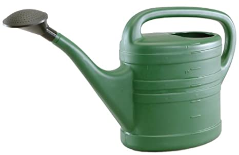 tierra garden 5013 large 35 gallon plastic watering can green - Garden Watering Can