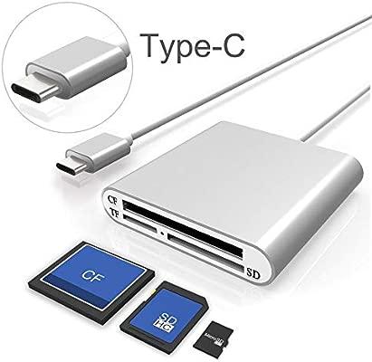 Lector de tarjetas SD USB-C, ALIFER 3 ranuras Superspeed CF ...