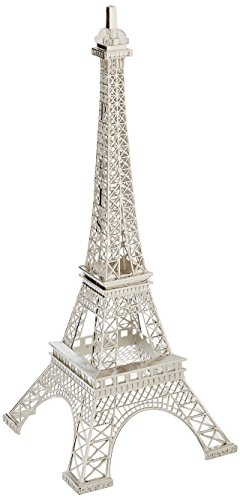 Eiffel Tower Paris France Silver Metal Tower Display Stand P