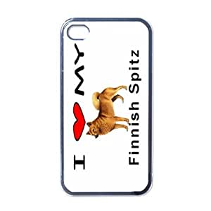 Amazon.com: I Love My Finnish Spitz Black Iphone 4 and Iphone 4s Case