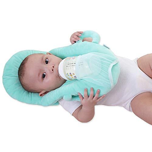 VoPee Baby Portable Detachable Feeding Pillows Self-Feeding Support Baby Cushion Pillow (Green)