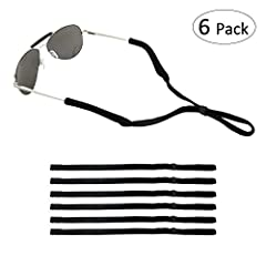About the product: Polyester sunglass straps with rubber grip are suitable for regular glasses/prescription glasses. The ends tightly grip all small to medium sized frames, so while you may lose yourself in your favorite activity, your glasse...
