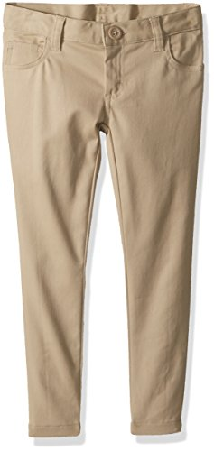 Classroom Uniforms Big Girls' 5 Pocket Stretch Skinny Pant, Khaki, 8 by Classroom Uniforms (Image #1)