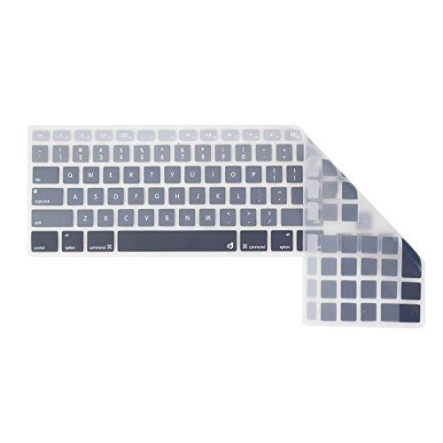 Masino Silicone Keyboard Cover Ultra Thin Keyboard Skin for Apple Full Size Keyboard with Numeric Keypad MB110LL/B (Black Gradient) - Apple Wireless Keyboard Kit