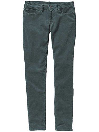Patagonia W's Fitted Corduroy Pants Smolder Blue Nouveau Green