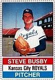 1976 hostess Regular (Baseball) Card# 24 Steve Busby of the Kansas City Royals VG Condition