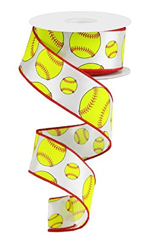 EXPRESSIONS Softball Wired Edge Ribbon - 10 Yards (1.5