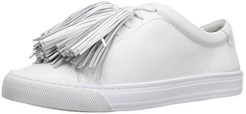 LOEFFLER RANDALL Women's Logan (Nappa/Tassels) Fashion Sneaker, Optic White, 7 B US