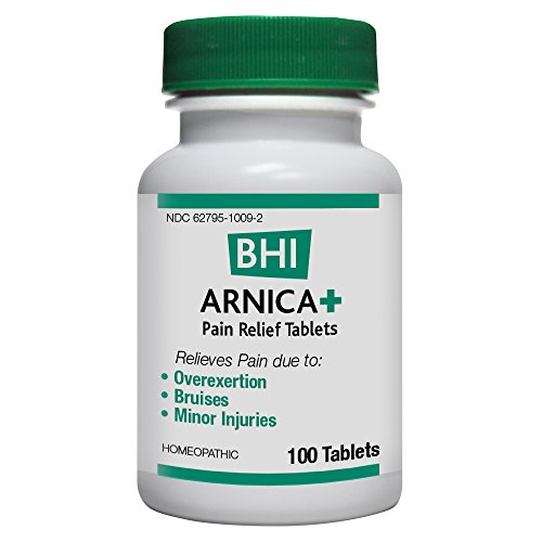 BHI Arnica + Pain Relief Tablets, 100 Count (Pack of 12)