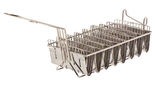 Browne (TB8M) 12'' x 6 ½'' Chrome-Plated Taco Basket
