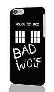 "SUUER Doctor Who TARDIS Bad Wolf iPhone 6 - 5.5 inches Plus Case , Designer Personalized Custom Plastic Hard CASE for iPhone 6 Plus (5.5"") Durable New Style Rough Skin 3D Case Cover"
