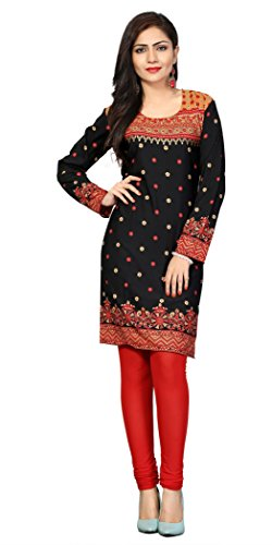 Indian Tunic Top Womens Kurti Printed Blouse India Clothing – X-Large, L 107