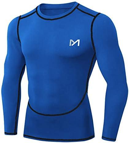 T-Shirt Hose Herren Kompressions Tops Sports Gym Jogger Joggen Funktionswäsche