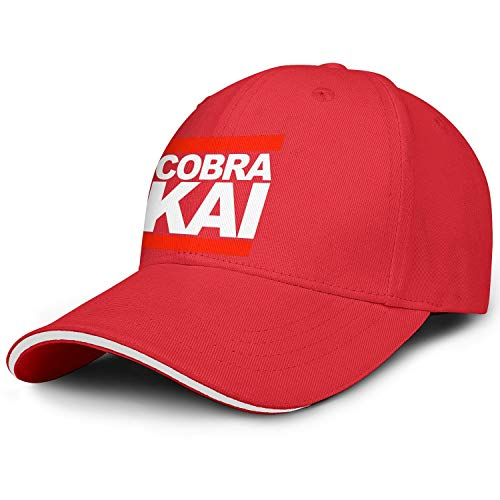 - SHTHYTS Womens White-Cobra-Kai-Run-Logo-Adjustable Snapback Hat Cotton Summer Trucker Dad Baseball Caps