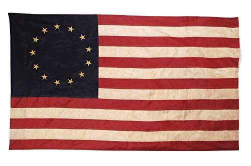Primitive American 13 Star Betsy Ross Flag 3 ft x 5 ft Nylon Antique Look Flag -