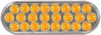 Maxxima M63201WCL 24 LED 6 White Clear Oval Warning Flasher Light