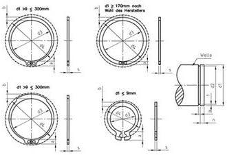DIN 471 Edelstahl 1.4122 A 11X1,0 mm Sicherungsringe f/ür Wellen Paket /â 200 St/ück