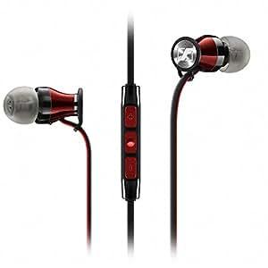 Sennheiser Momentum In Ear - Auriculares con cable para móvil in-ear (control remoto integrado, para Iphone/Ipod/Ipad), color negro y rojo