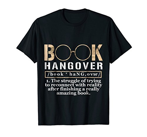 Funny Book Hangover Amazon Book Lover T-Shirt ()