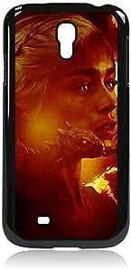 Daenerys Targaryen with Dragon- Digital Art -Game of Thrones- Hard Black Plastic Snap - On Case --Samsung? GALAXY S3 I9300 - Samsung Galaxy S III - Great Quality!