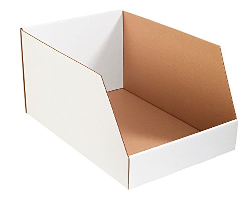 Aviditi BINJ162412 Jumbo Corrugated Open Top Bin Box, 24'' Length x 16'' Width x 12'' Height, Oyster White (Bundle of 25) by Aviditi