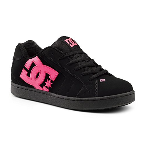 Dc Suregrip Mens Net Sg Black Pink Slip Resistant Work Shoes