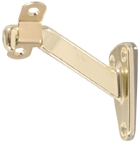 The Hillman Group 852261 Handrail Bracket Heavy Duty, Brass Finish