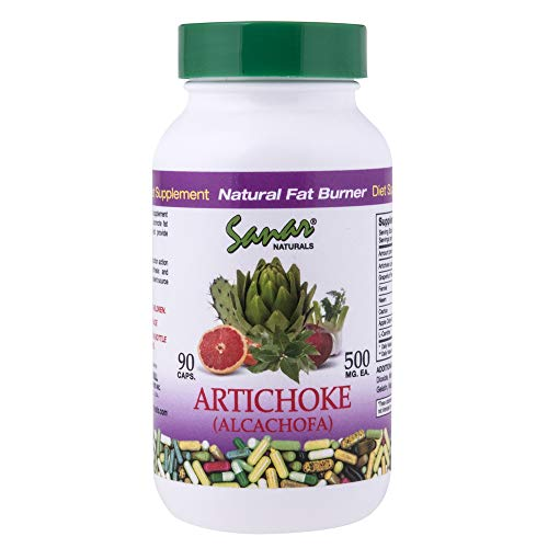 Sanar Naturals Artichoke Capsules, 90 Count -Supports Healthy Metabolism and Digestion, Alcachofa, Herbal - Artichoke Capsules