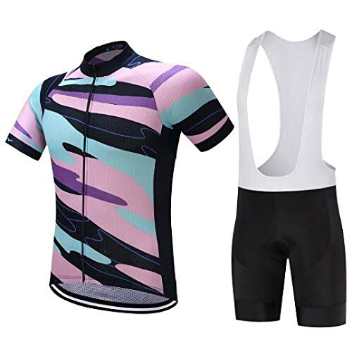(Summer Cycling Clothing Men 9D Gel Pad Bicycle Jersey Set Racing Road Bike Clothes Suit )