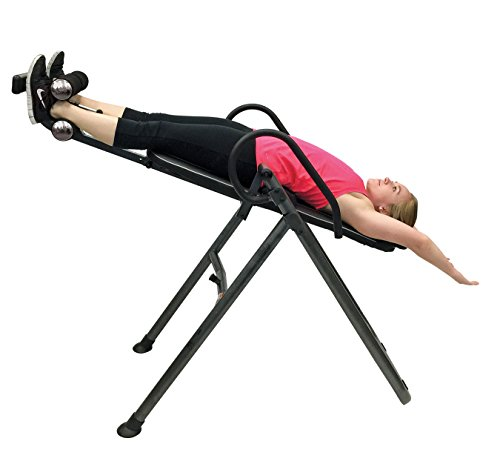 Health Gear ITM4.5 Adjustable Heat & Massage Inversion Table Heavy Duty up to 300 lbs.
