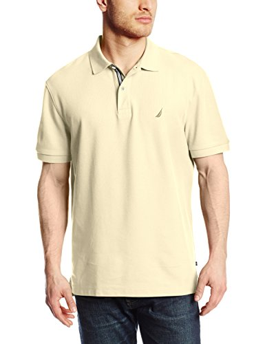 Nautica Men's Short Sleeve Solid Deck Polo Shirt, Sail Cream, X-Large