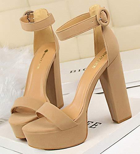Chaussures Aisun Talon Sandales À Haut Plateforme Kaki Femme Soirée W46nB