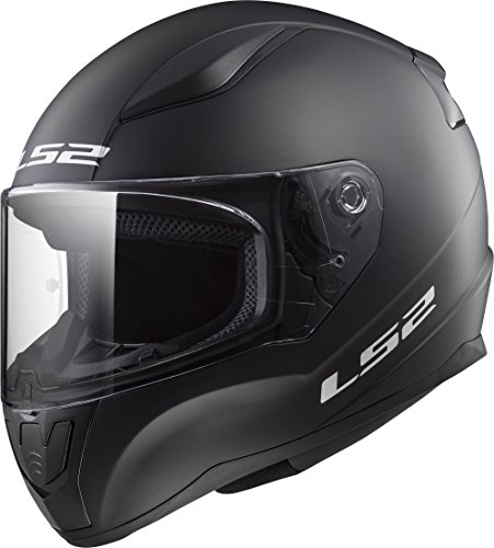 LS2 Helmets Rapid Solid Matte Black Unisex-Adult Full-Face-Helmet-Style Motorcycle Helmet (Matte Black, Large)