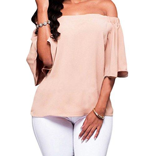 YeeATZ Pink Off-the-shoulder Top(Size,L)