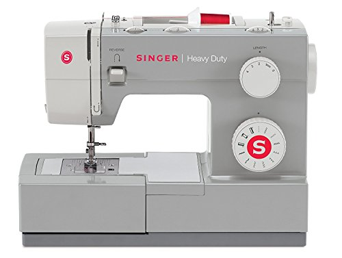 Singer Heavy Duty 4411 Sewing Machine with 11 Built-in Stitches, Metal Frame and Stainless Steel BedPlate, Great for Sewing all - Machines White Sewing