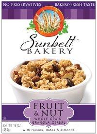 Sunbelt Fruit & Nut Granola Cereal, with Raisins, Dates, & Almonds, 16 Oz. (2 Pack) by Sunbelt Bakery