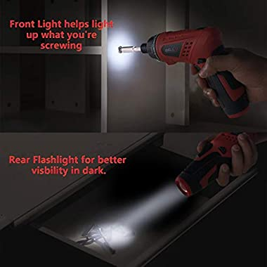 iBELL MS06-16 Cordless Rechargeable Electric Screwdriver 3.6V, 1500mAh Lithium Ion Battery MAX Torque 3.5Nm, 2 Flexible Position and 16 Torque Setting, Front LED and Rear Flashlight- 6 Months Warranty 9